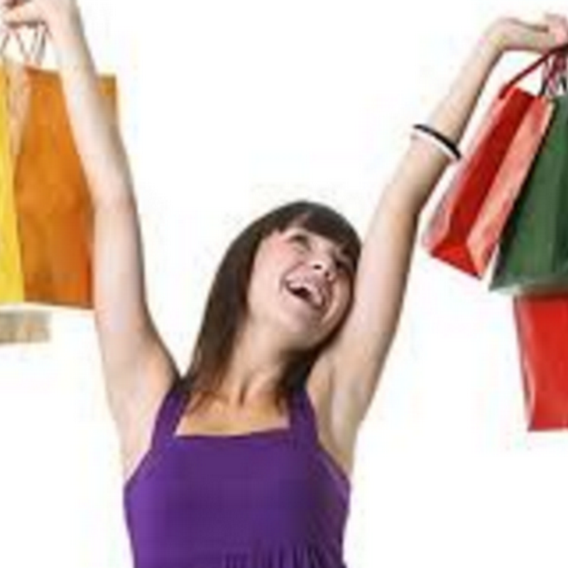 De compras con una mujer, humor