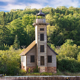 Ghost Light by Kristina Scarcelli - Buildings & Architecture Decaying & Abandoned ( great lakes lighthouses, michigan, grand island east channel lighthouse, michigan light houses, lake superior )