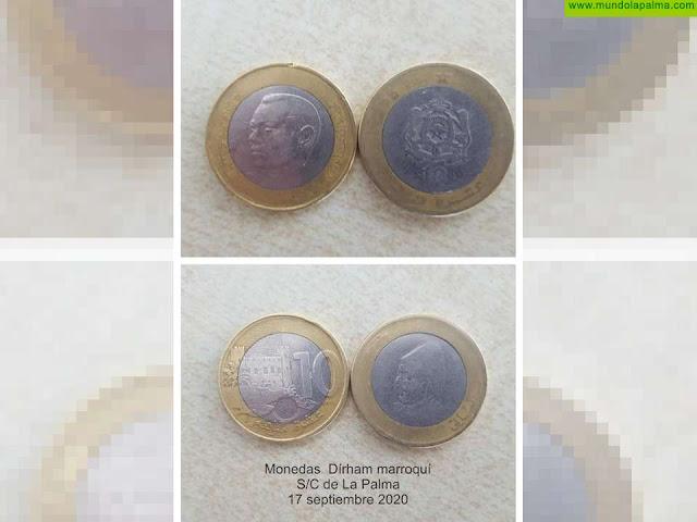 Denuncian el uso de monedas marroquíes para suplantar monedas 2 euros