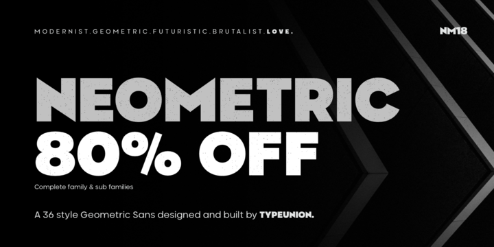 Download Neometric Font Family From TypeUnion