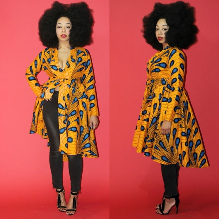Pictures of Ankara kimono gowns Fashion collection - 2018 , 2018 (14)