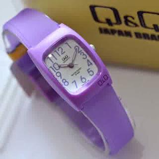 jam tangan  QQ ladies purple rubber