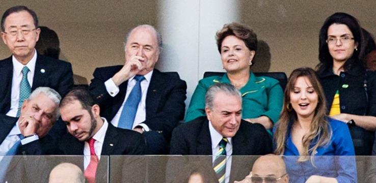 Dilma vaiada na Copa do Mundo