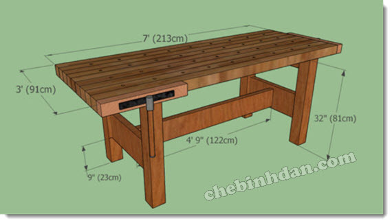 size of the workbench