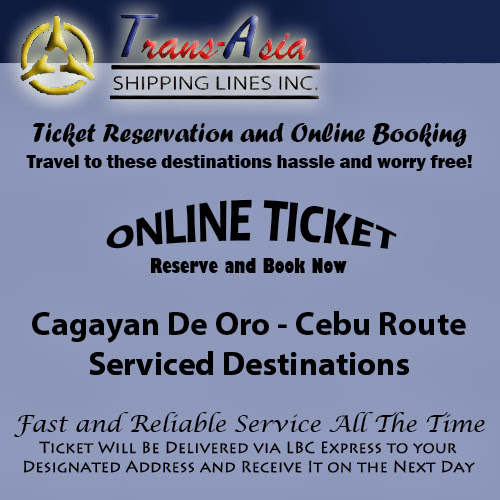 Trans-Asia Shipping Cagayan De Oro-Cebu Route Ticket Reservation and Online Booking