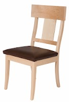 Brewster Dining Chair with Leather Seats, in Natural Hard Maple