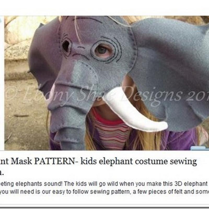 ideas máscara de elefante 3D