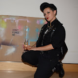 WWW.ENTSIMAGES.COM -  Anka Dabrowska the Artist  at    Clifford Chance Annual Pride Art Exhibition - London organised by Arcus to celebrate Gay Pride London and New York July 2nd 2013                                                  Photo Mobis Photos/OIC 0203 174 1069
