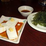 tofu and umibudo in Ikebukuro, Tokyo, Japan