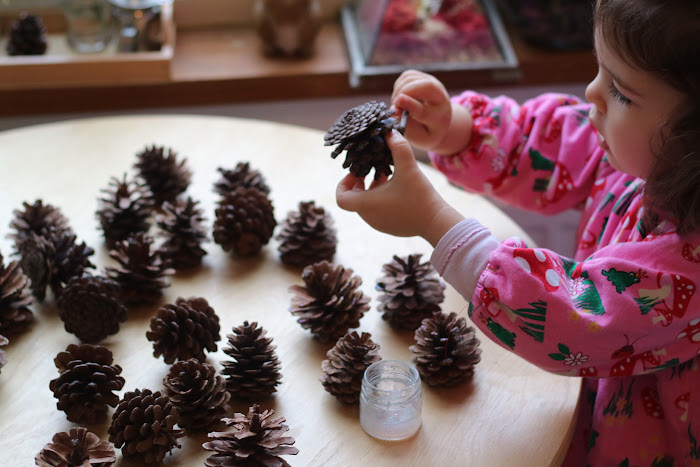 Pine, cones, ideas, pine cones, crafts, children, Montessori , natural, materials,