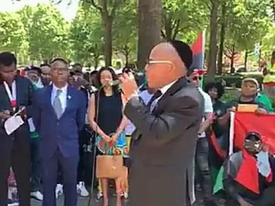 Biafra Leader Pictured, Guarded With Heavy Security.