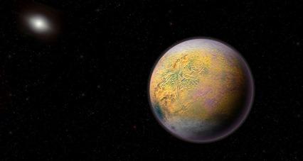 ilustração de um distante Planeta X