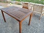 Tisch und Stühle sind fertig