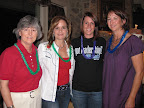 Alumnae Beverly Gill, Belinda Tips, Whitney Wheeler and Deda Young