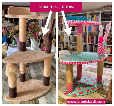 Valentine's Special Crafting with Cat ©BionicBasil® Cat Tree Glow Up - The Best Cat Tree Makeover In The World