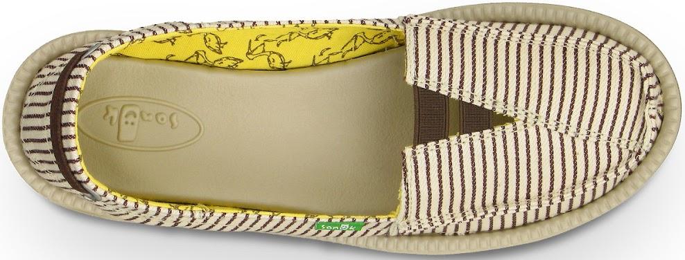 *Sanuk 春風直條紋懶人鞋:幸福的送子鳥與女孩們打招呼喔! 4