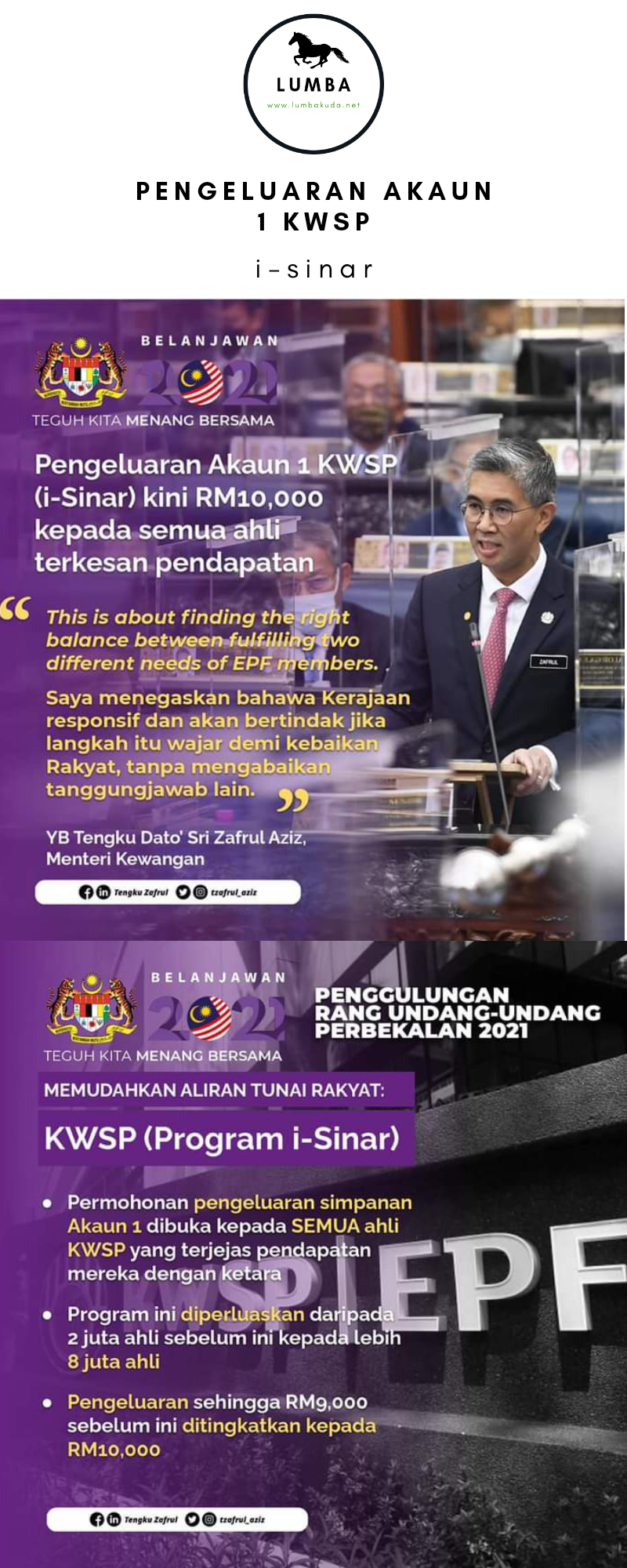 it's a COVID 19 budget, it's a budget for survival & resilience - Tengku Zafrul
