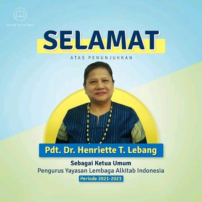 Terpilih, Pdt. Dr. Henriette Tabita Lebang Perempuan Pertama yang Menjabat Ketua Umum LAI
