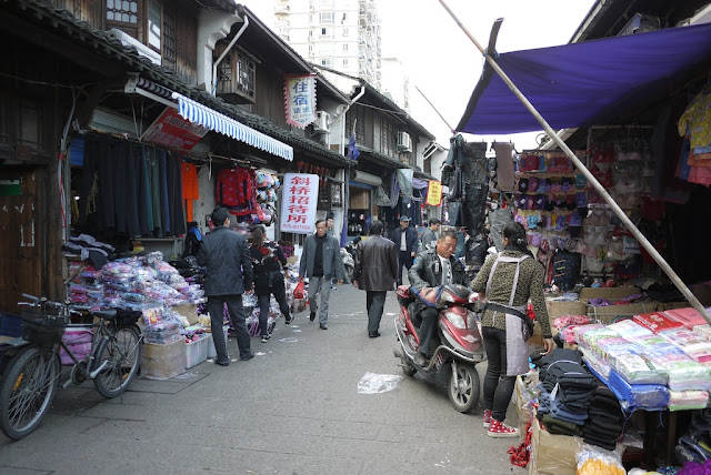 Xiaoshan Street in Shaoxing, China