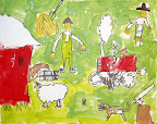 Farm Painting by Silas