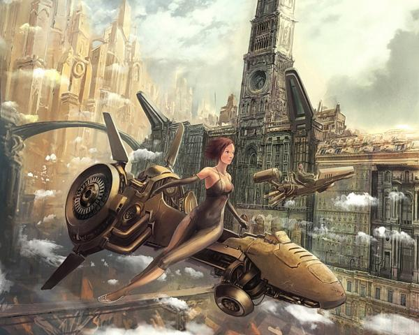 Riding Sky Bike, Fiction 2