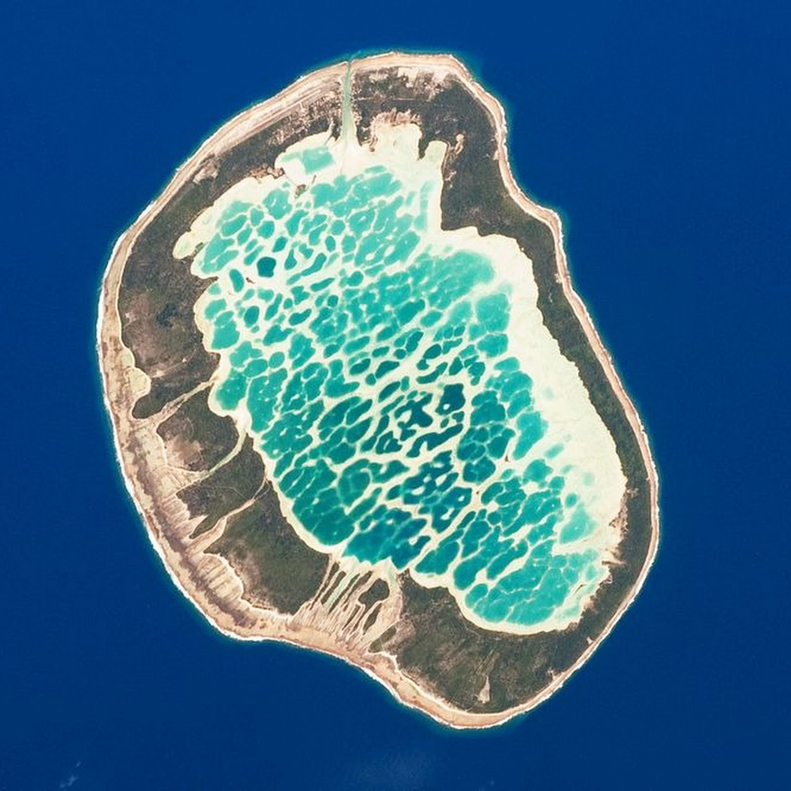 The Reticulated Lagoon of Mataiva Atoll