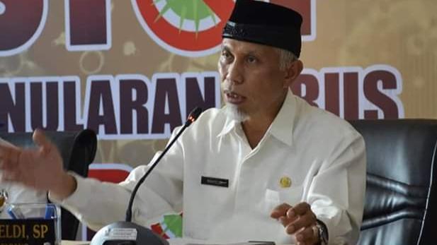 Foto: Wako Mahyeldi. Update Covid-19 Padang, 6 Orang Sembuh, 1 Orang Warga Mata Air Dinyatakan Positif.