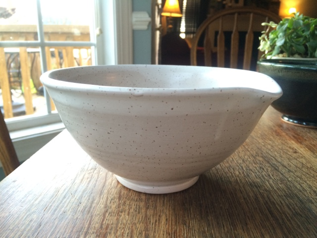 White Ceramic Pour Bowl