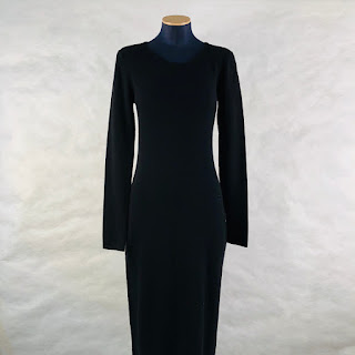 Calvin Klein Collection Black Cashmere Sweater Dress