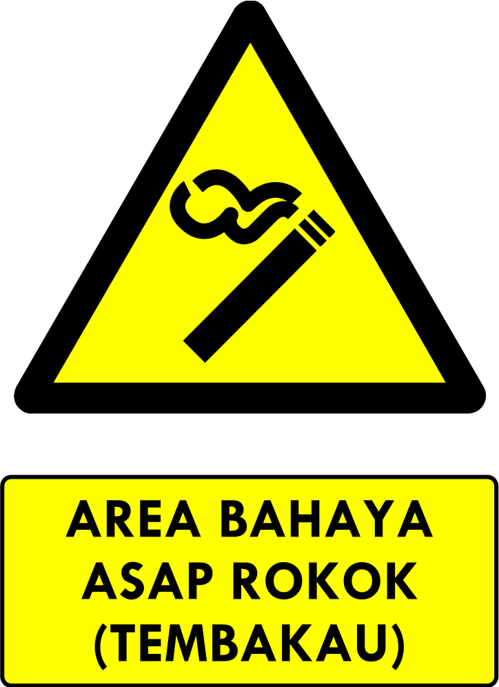 Rambu Bahaya Area Bahaya Asap Rokok Tembakau