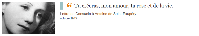 Lettre de Consuelo à Antoine de Saint-Exupéry