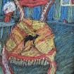 """""""Camel Chair"""" Foil/Oil Pastels"""
