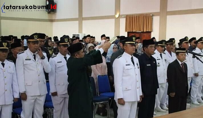 Marwan Hamami Lantik 268 Pejabat Pemkab Sukabumi