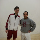 Kidsquash Lead Coach, Hameed Ahmed, and Kidsquash Director, Tariq Mohammed.