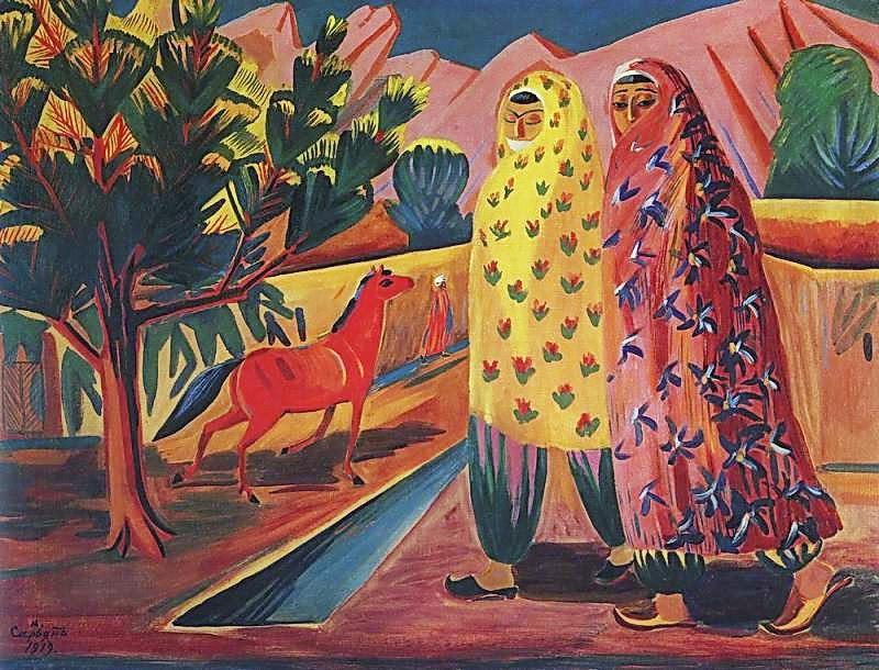 Martiros Saryan - Red horse, 1919