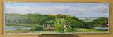Panorama pod Neu Sallentin II, olej, płótno, 20x70cm