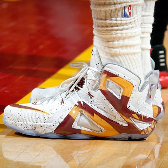 4528a354349d ... James Debuts 8220Cavs Home8221 LeBron 12 Elite in Game One Loss ...