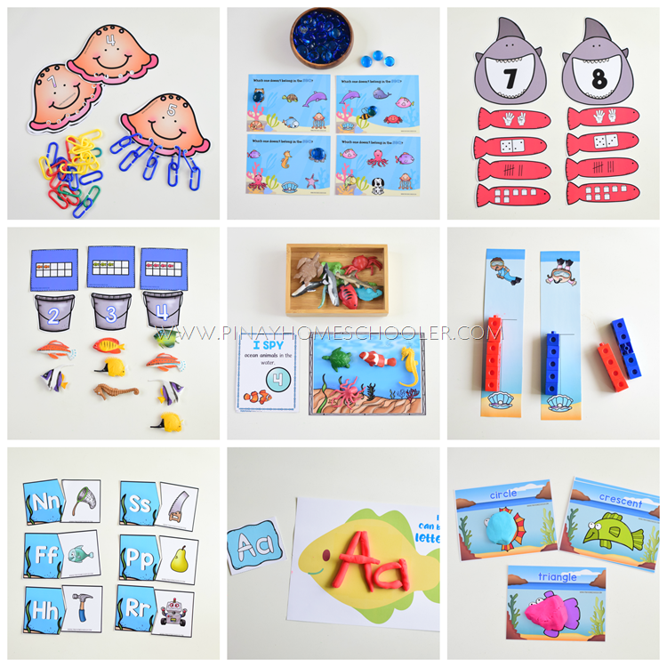 Preschool Unit Ocean Learning Materials