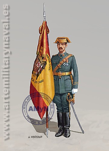 Guardia Civil. Abanderado 1943