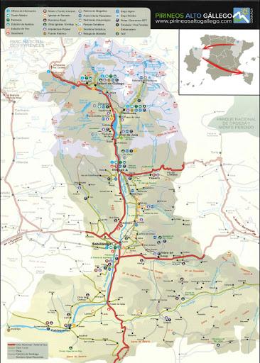 Mapa Comarca Alto Gállego