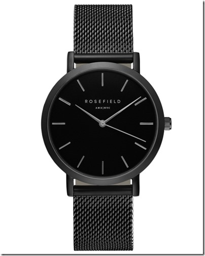 Rosefield Watch - The Mercer Black Black