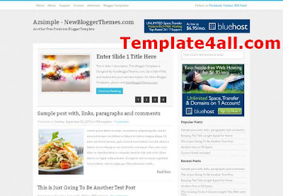 News Blog Magazine Blogger Template