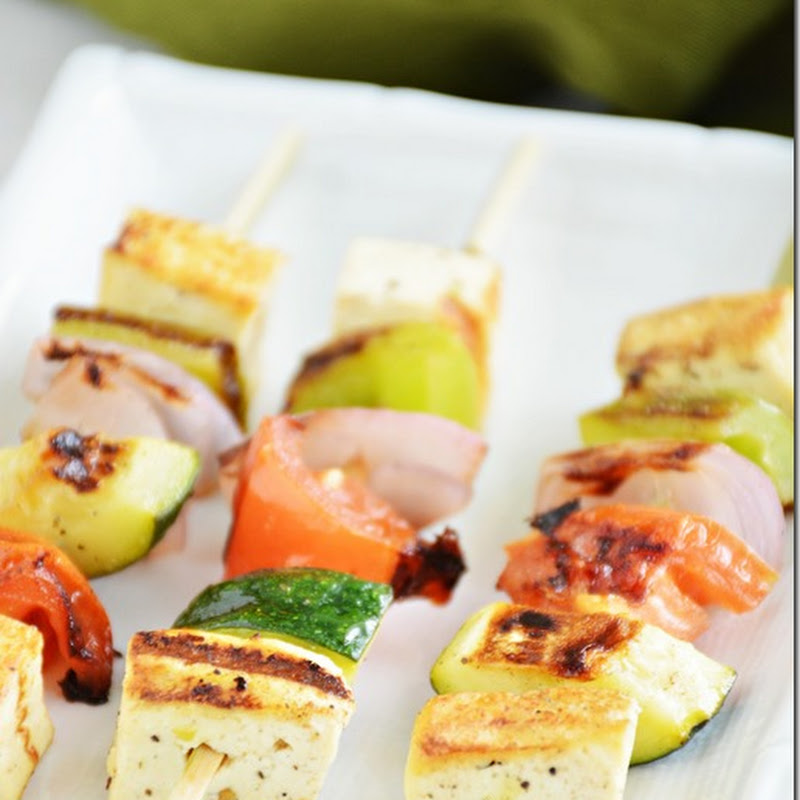 Tofu and veggie kebabs