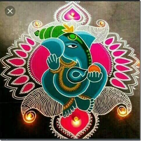 Rangoli para Diwali   (6)
