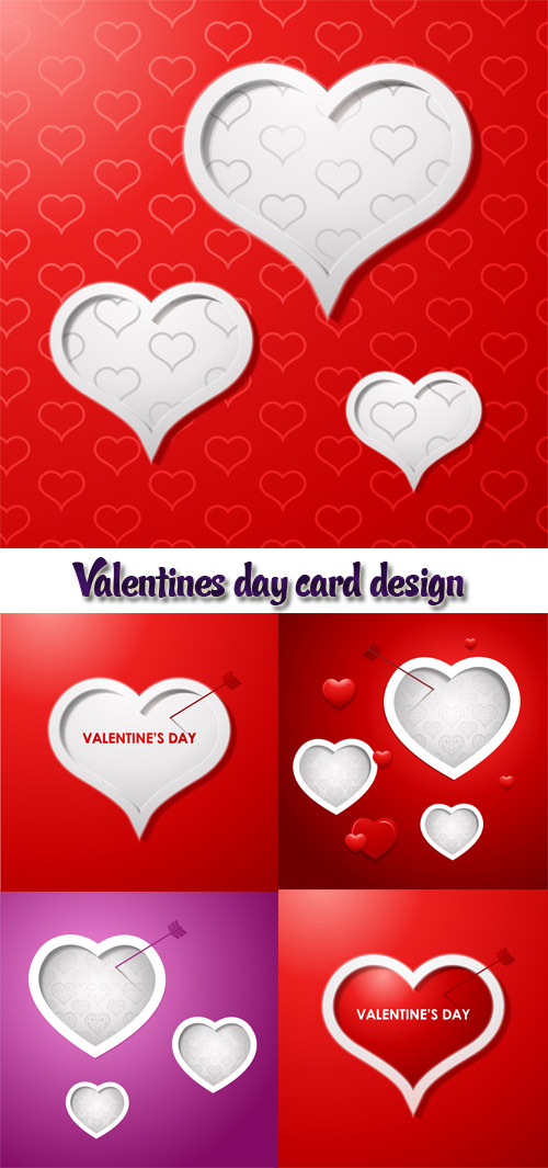 Stock: Valentines day card design background, eps 10