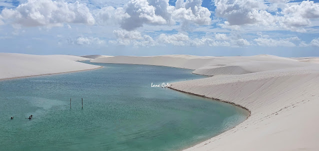 Lagoa Azul em Barreirinhas, Lençóis Maranhenses.
