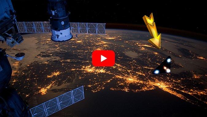 OVNI Triangular capturado pela Estação Espacial Internacional