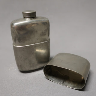 James Dixon & Son Pewter Flask