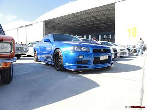 Blue Nissan Skyline R34