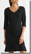 Boutique Moschino Stretch Knit Peplum Mini Dress